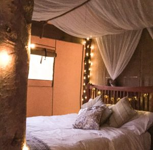 glamping luxury bedroom